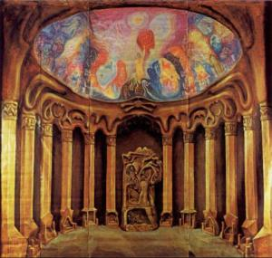 1st-goetheanum-interior-planetary-pillars-and-representative-of-humanity