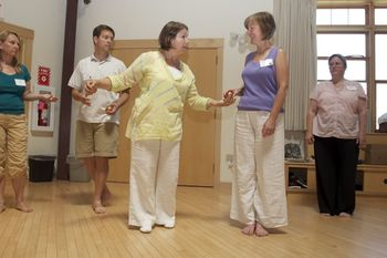 """""""Eurythmy in the Workplace"""", led by Leonore Russell, greatly benefited the administrators' course, which she shared with Torin Finser."""