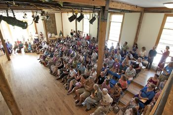 Both in the mornings and evenings we gather to experience our community and to share unique talents: lectures, storytelling, music, a New England Contra Dance, or even a play.