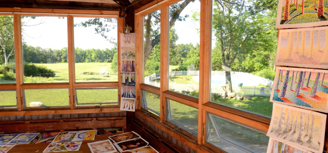 Art display : windows:landscape beyond