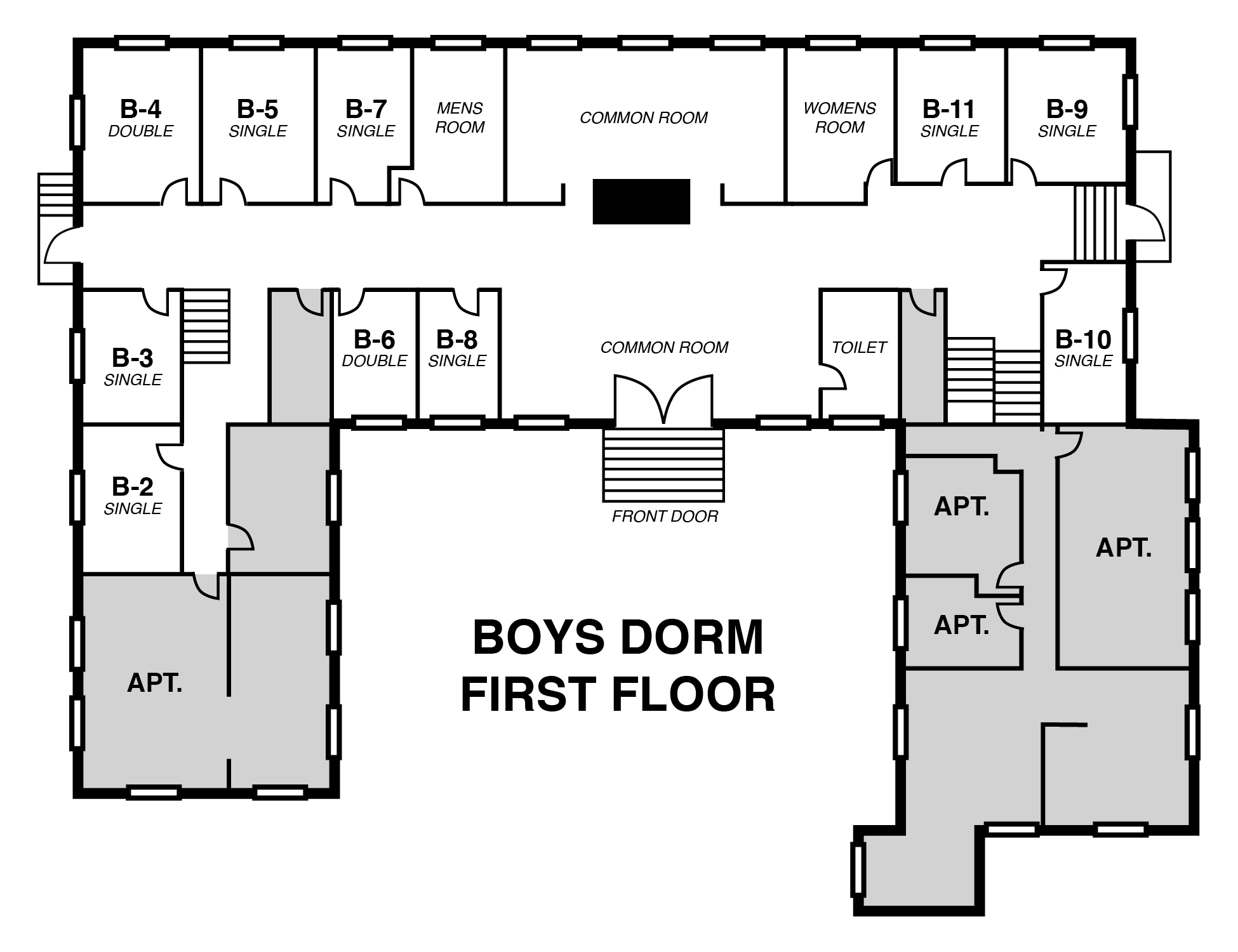 Dorm room booking center for anthroposophy for Roommate floor plan