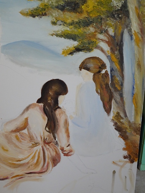 Harduf high school student painting