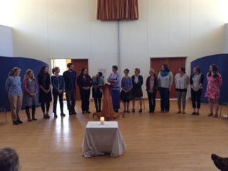 Closing ceremony at the cluster in Freeport, Maine