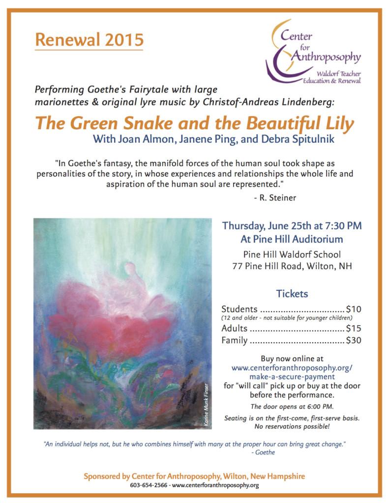 Green Snake preformance flyer