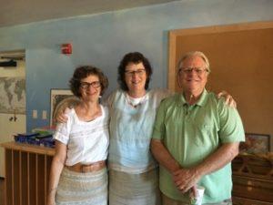 Linda Braun, Barbara Richardson and Marke Levene at Tucson Waldorf School
