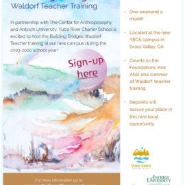 Building Bridges Waldorf Teacher Training at Yuba River Charter School