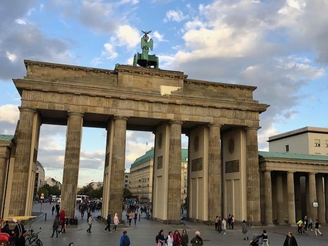 The famed Brandenberg Gate