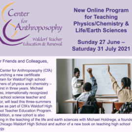New Online Program for Teaching Physics/Chemistry & Life/Earth Sciences – Sunday 27 June – Saturday 31 July 2021